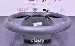 Seat Ibiza 6j Fr 2008-2017 Leather Steering Wheel Trim Black 6j041909pytr