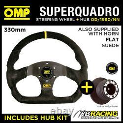 Seat Ibiza Mk2 Cupra Gti 93-99 Omp Super Quadro Flat Bottom Steering Wheel & Hub