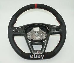 Seat Leon FR III MK3 Custom Flat Bottom Steering Wheel Leather Alcantara