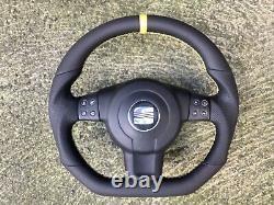 Seat Leon Fr Altea Toledo III 5p0 New Custom Made Flat Bottom Steering Wheel