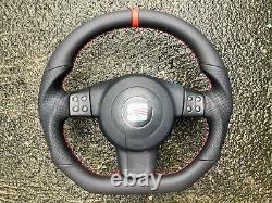 Seat Leon II Altea Toledo III 5p0 New Custom Made Flat Bottom Steering Wheel