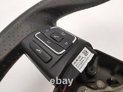 Seat Leon Leather Multifunction Steering Wheel 5p0419091ar / S4227
