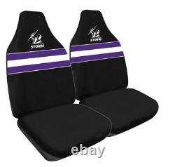 Set Of 3 Melbourne Storm Car Seat Covers + Steering Wheel Cover + Floor Mats