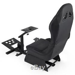 Simulator Cockpit Steering Wheel Stand Logitech G29 with Racing Seat Gaming Chair