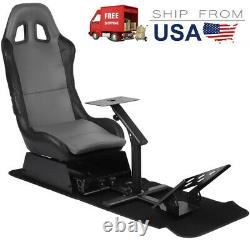 Simulator Cockpit Steering Wheel Stand Racing Seat Gaming Chair Driving Stand&^