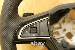 Skoda Octavia VRS 2013-21 Multi func Leather Steering Wheel 5E0419091BCHTH New