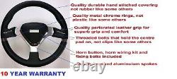 Sport Racing Race Steering Wheel 350mm And Boss Kit Fits Vw Golf + More