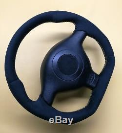 Steering Wheel VW Golf Passat GT GTI R32! Seat Leon! FLAT BOTTOM // R8 STYLE