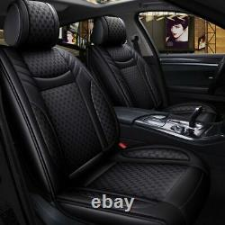 US Luxury PU Leather Car Seat Covers Front & Rear Cushion Set 5-Seats SUV Truck