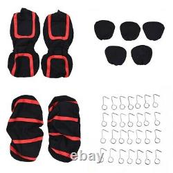 Universal Car Seat Covers Full Set For Auto withSteering Wheel/Belt Pad/Head Rest