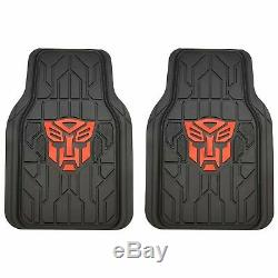 Universal Fit Set Transformers Autobots Car Set Seat Steering Wheel Cover Floor