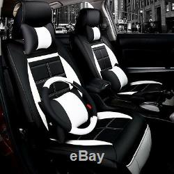 Universe Sport Car Seat Cover Cushion Headrest Steering Wheel Cover PU Leather