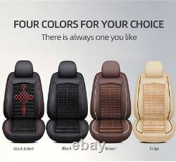 Upgrade! 5-Sits Car Seat Covers Leather Universal Full Set for SUV Truck Sedan