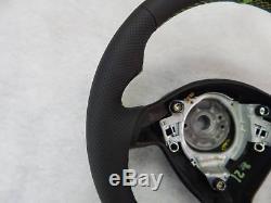 VW Golf IV Seat Leon MK1 Toledo Fabia steering wheel leather sport flat green