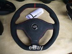 VW thick suede steering wheel Golf 4 MK4 3BG Passat B5 Bora R32 GTI Skoda Seat