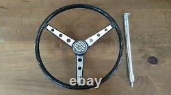 Vintage Huffy Wheel Rail Banana Seat Muscle Bike Black Glitter Steering Wheel
