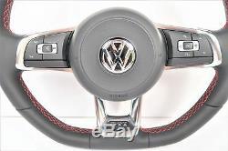 Volkswagen VW Golf Polo Passat Scirocco Jetta GTI R32 Steering Wheel Red Stitch