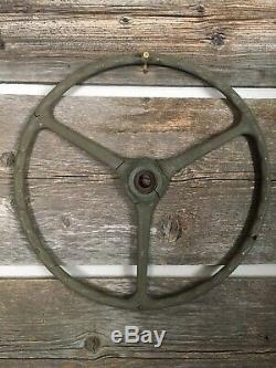 Willys MB Ford GPW US Army Jeep Factory Sheller Steering Wheel Original Oem Rare